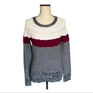I Heart Ronson Cable Knit Chunky Pullover Sweater